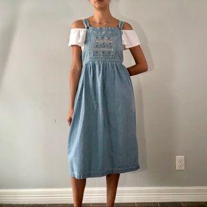 80's denim overall dress